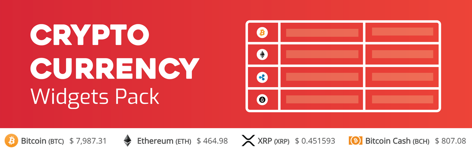 CRYPTOCURRENCY WIDGET PACK BANNER LOOK