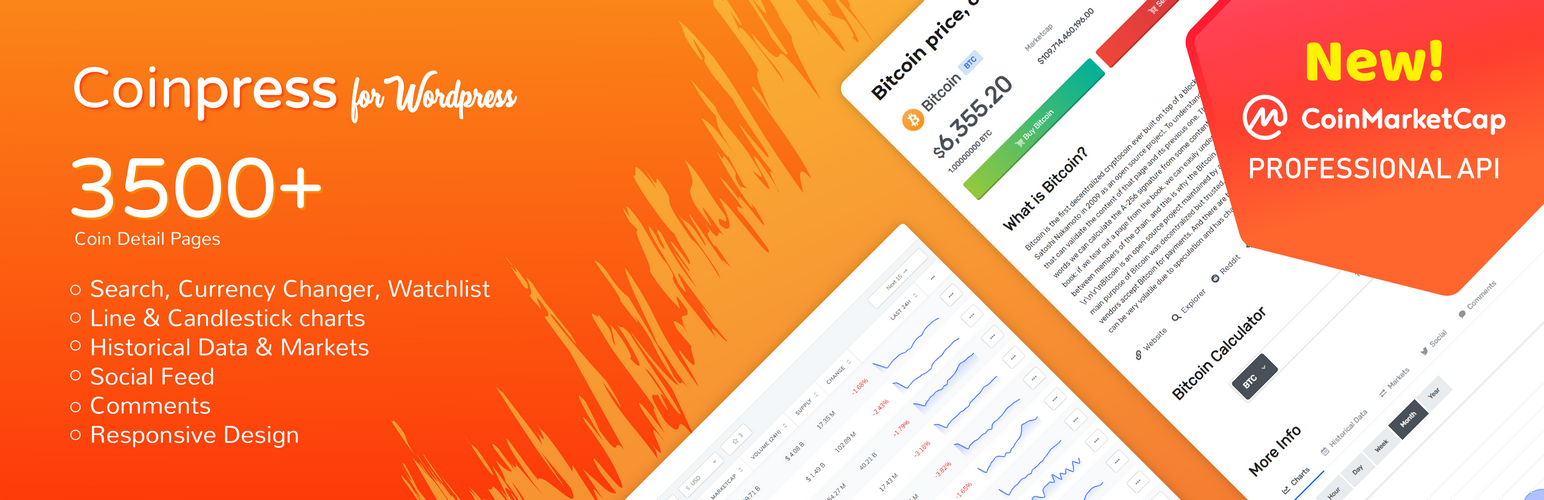 Cryptocurrency Coinpress Banner