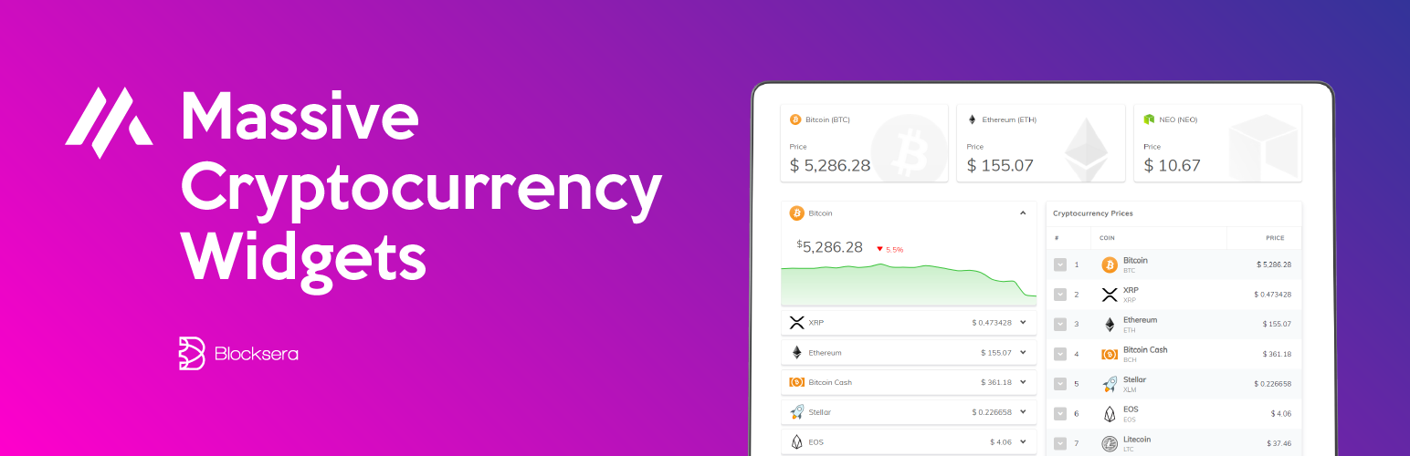 Massive Cryptocurency Widgets Php Html Edition