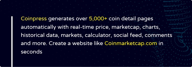 Coinpress - Cryptocurrency Pages for WordPress - 4