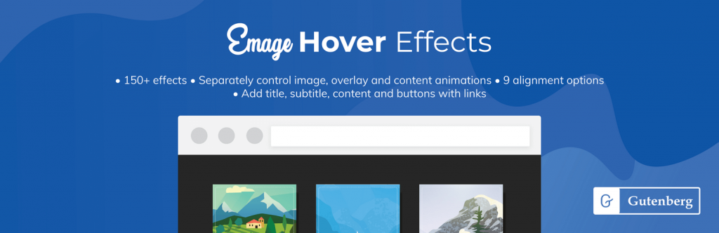 Emage Hover Effects Block for Gutenberg